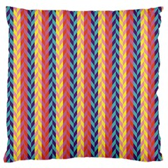 Colorful Chevron Retro Pattern Large Cushion Case (two Sides) by DanaeStudio