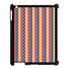 Colorful Chevron Retro Pattern Apple Ipad 3/4 Case (black) by DanaeStudio