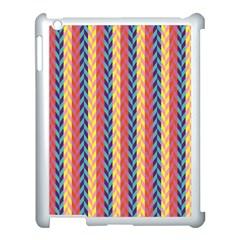 Colorful Chevron Retro Pattern Apple Ipad 3/4 Case (white) by DanaeStudio
