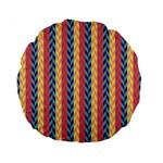 Colorful Chevron Retro Pattern Standard 15  Premium Round Cushions