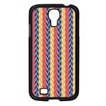 Colorful Chevron Retro Pattern Samsung Galaxy S4 I9500/ I9505 Case (Black)