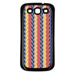 Colorful Chevron Retro Pattern Samsung Galaxy S3 Back Case (Black)