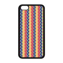 Colorful Chevron Retro Pattern Apple Iphone 5c Seamless Case (black) by DanaeStudio