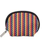 Colorful Chevron Retro Pattern Accessory Pouches (Small)