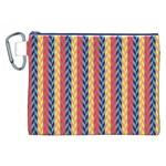 Colorful Chevron Retro Pattern Canvas Cosmetic Bag (XXL)