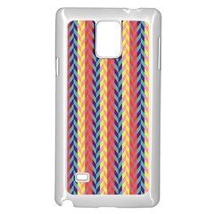 Colorful Chevron Retro Pattern Samsung Galaxy Note 4 Case (white) by DanaeStudio