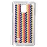 Colorful Chevron Retro Pattern Samsung Galaxy Note 4 Case (White)