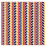 Colorful Chevron Retro Pattern Large Satin Scarf (Square)