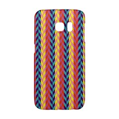 Colorful Chevron Retro Pattern Galaxy S6 Edge by DanaeStudio