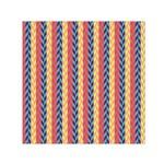 Colorful Chevron Retro Pattern Small Satin Scarf (Square)