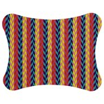 Colorful Chevron Retro Pattern Jigsaw Puzzle Photo Stand (Bow)