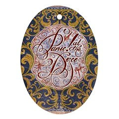 Panic! At The Disco Ornament (oval)  by Onesevenart