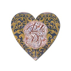 Panic! At The Disco Heart Magnet by Onesevenart