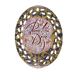 Panic! At The Disco Oval Filigree Ornament (2 Side)  by Onesevenart