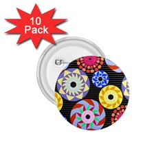 Colorful Retro Circular Pattern 1 75  Buttons (10 Pack) by DanaeStudio