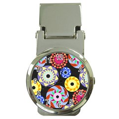 Colorful Retro Circular Pattern Money Clip Watches by DanaeStudio