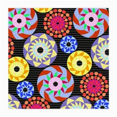 Colorful Retro Circular Pattern Medium Glasses Cloth by DanaeStudio