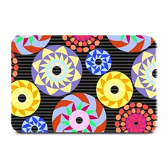 Colorful Retro Circular Pattern Plate Mats by DanaeStudio