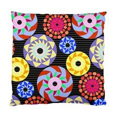 Colorful Retro Circular Pattern Standard Cushion Case (two Sides) by DanaeStudio