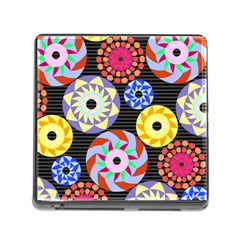 Colorful Retro Circular Pattern Memory Card Reader (square) by DanaeStudio