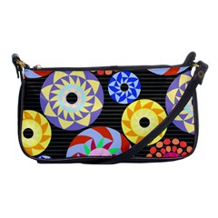 Colorful Retro Circular Pattern Shoulder Clutch Bags by DanaeStudio