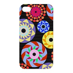 Colorful Retro Circular Pattern Apple Iphone 4/4s Hardshell Case by DanaeStudio