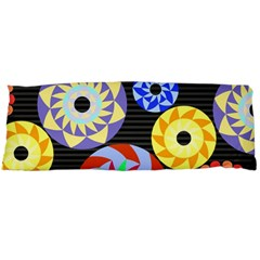 Colorful Retro Circular Pattern Body Pillow Case (dakimakura) by DanaeStudio