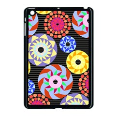 Colorful Retro Circular Pattern Apple Ipad Mini Case (black) by DanaeStudio