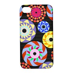Colorful Retro Circular Pattern Apple Iphone 4/4s Hardshell Case With Stand by DanaeStudio