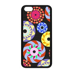 Colorful Retro Circular Pattern Apple Iphone 5c Seamless Case (black) by DanaeStudio