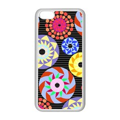 Colorful Retro Circular Pattern Apple Iphone 5c Seamless Case (white) by DanaeStudio