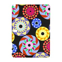 Colorful Retro Circular Pattern Samsung Galaxy Note 10 1 (p600) Hardshell Case by DanaeStudio