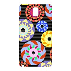 Colorful Retro Circular Pattern Samsung Galaxy Note 3 N9005 Hardshell Back Case by DanaeStudio
