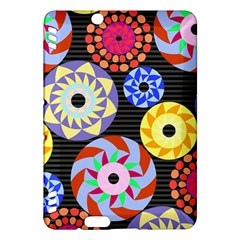 Colorful Retro Circular Pattern Kindle Fire Hdx Hardshell Case by DanaeStudio