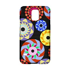 Colorful Retro Circular Pattern Samsung Galaxy S5 Hardshell Case  by DanaeStudio