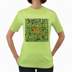 Paramore Is An American Rock Band Women s Green T Shirt by Onesevenart