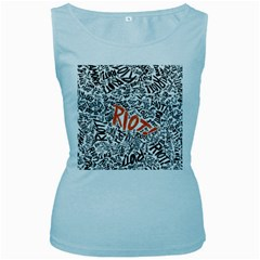 Paramore Is An American Rock Band Women s Baby Blue Tank Top by Onesevenart