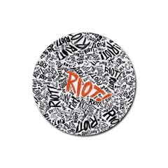 Paramore Is An American Rock Band Rubber Coaster (round)  by Onesevenart