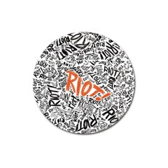 Paramore Is An American Rock Band Magnet 3  (round) by Onesevenart