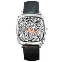 Paramore Is An American Rock Band Square Metal Watch by Onesevenart