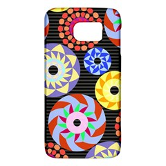 Colorful Retro Circular Pattern Galaxy S6 by DanaeStudio