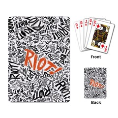 Paramore Is An American Rock Band Playing Card by Onesevenart