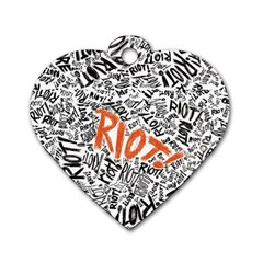 Paramore Is An American Rock Band Dog Tag Heart (one Side) by Onesevenart