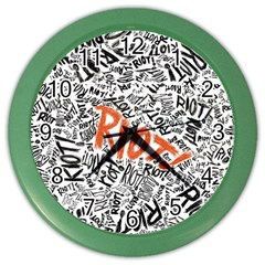 Paramore Is An American Rock Band Color Wall Clocks by Onesevenart