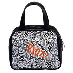 Paramore Is An American Rock Band Classic Handbags (2 Sides) by Onesevenart