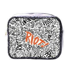 Paramore Is An American Rock Band Mini Toiletries Bags by Onesevenart