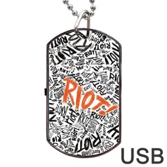 Paramore Is An American Rock Band Dog Tag Usb Flash (one Side) by Onesevenart
