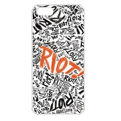 Paramore Is An American Rock Band Apple Iphone 5 Seamless Case (white) by Onesevenart