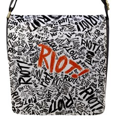 Paramore Is An American Rock Band Flap Messenger Bag (s) by Onesevenart