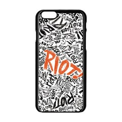Paramore Is An American Rock Band Apple Iphone 6/6s Black Enamel Case by Onesevenart